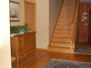 Port Sanilac house photo - stairs to sleeping area - bathroom door on left