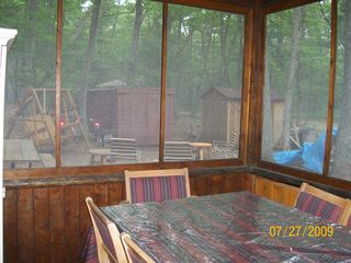 Pentwater cabin photo - Dining area on screened in porch