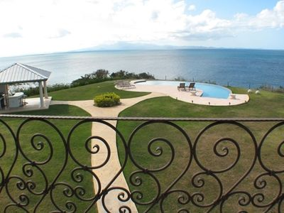 Vieques Island villa rental - View, Gazebo and Pool