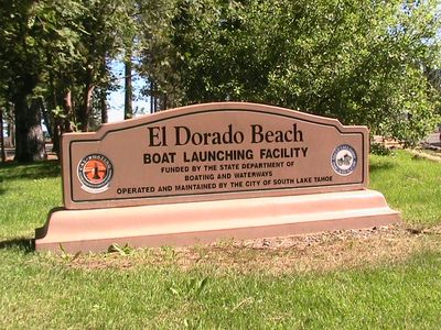 Al Tahoe townhome rental - Enjoy beach time at El Dorado Beach. Just a few blocks away. Enjoy the sunsets.