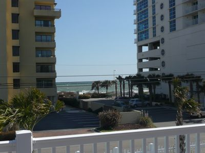 Photo of the ocean from 2nd floor porch. Just walk across the street!