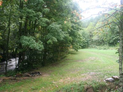Banner Elk house rental - Acres of mowed fields