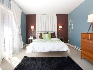 Portland condo photo - Queen bed with private balcony