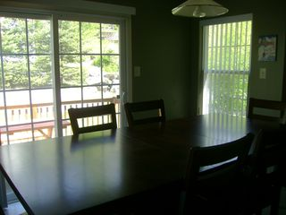 Shawnee house photo - Kitchen table can host up to 8 people comfortably for a family-style meal!
