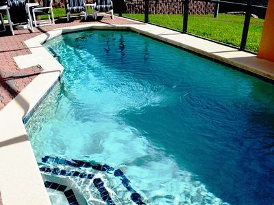Large, in-ground swimming pool. Optional pool water heating is available!
