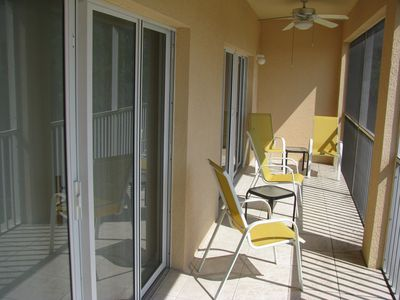 Punta Gorda condo rental - Lanai wit access from Living room and Master Bedroom