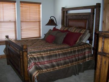 Queen Sized bed in guest bedroom