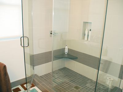 Walk-in Large Shower Off Master Room.
