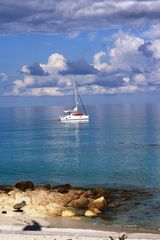 Bimini cottage photo - Sailboat At Rest Just Off the Beach