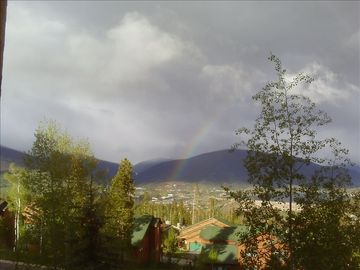 Silverthorne condo rental - View toward Continental Divide from the balcony