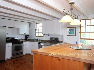 Edgartown house rental - Kitchen with Stainless Steel Appliances