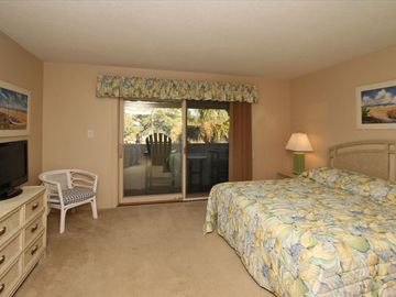 Large Master Bedroom with remodeled Full Bath and Balcony overlooking the Marsh!