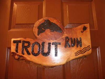 Trout Run Room Door Sign