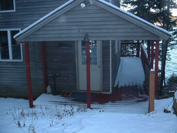 Entrance to Cottage after a winter's snow