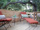 Enjoy the shade on your own private deck just outside your front door.