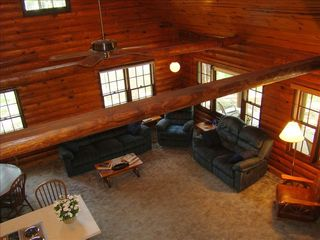 Eagle Mountain Lake house photo - The great room from the loft.