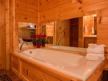 Optional Jacuzzi tub in the 2nd bedroom with a Queen Suite