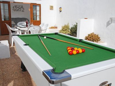 Pool Table on Terrace