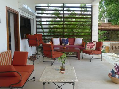 Las Terrenas house rental - Outdoor covered terrace