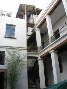 view of the two floor from the courtyard
