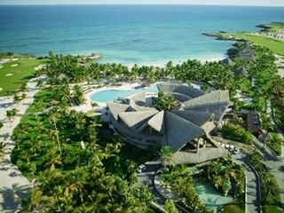 Punta Cana condo photo - Aereal view of Caleton Beach Club. Beach entry- surcharge. Dining- no surcharge.