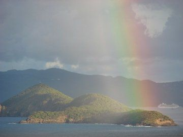 We enjoy the most beautiful rainbows regularly in St. Thomas.