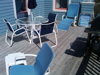 Kennebunk Beach house photo - Another view of the Upper Deck on a Sunny Day