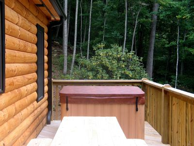 Rear deck hot tub