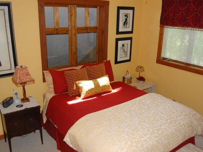 Red Room - luxurious Queen Master Bedroom suite with private bathroom.