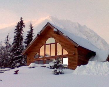 Seward chalet rental - Winter in Moose Pass