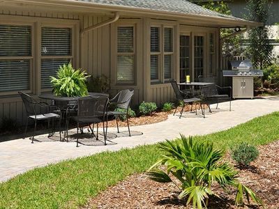 Sea Pines house rental - All new, luxurious landscaping is a great backdrop
