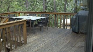Flagstaff cabin photo - Lovely Patio with Barbeque for Grilling, Dining and Games