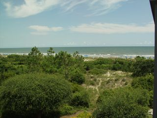 Kiawah Island villa photo - Kiawah at its best! The panoramic Ocean View from the deck at Double Dunes.