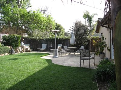 patio, back yard