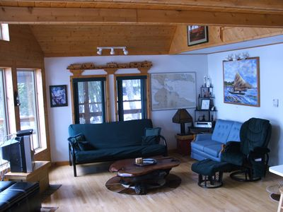 Hessel chalet rental - Living Room