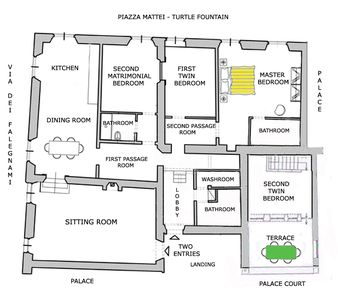Floor plan/apartment map. The panoramic terrace is not shown (it will be soon).