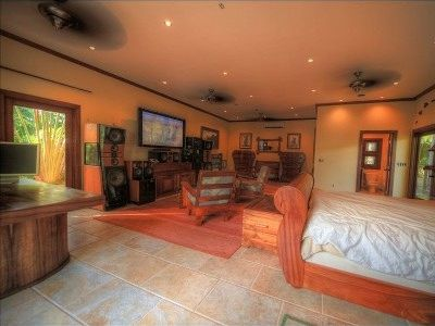 Downstairs Brand new master suite fully furnished with heirloom Hawaii hardwoods