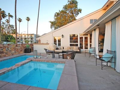 The outdoor lounge and pool offers a fabulous setting for entertaining guests.