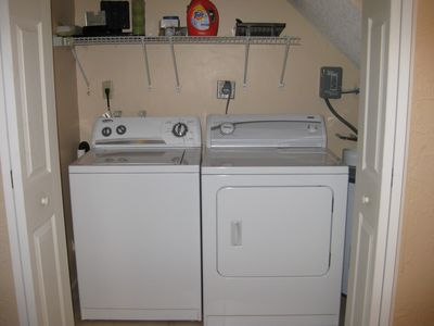 Washer & Dryer on First Floor