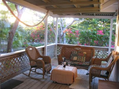 Providenciales - Provo cottage rental - Outdoor living at its best on Spacious Verandah