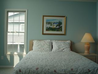 Holden Beach house photo - 2d floor bedroom with view of ocean