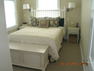 Plum Island condo photo - Queen bedroom with flat panel TV