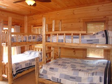 Kids bunk room! 2 doubles and 2 singles. Private bath.