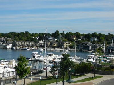 View of Charlevoix Marina from the deck