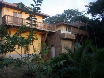Roatan house rental - view from Garden