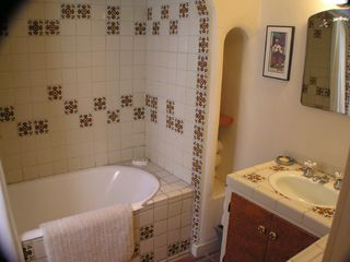 Tiled Bathroom with tub