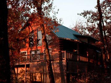 Jasper cabin rental - Cathedral-like windows bring the outdoors in! Enjoy the view from your chair.