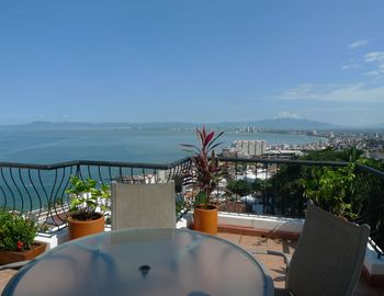 Puerto Vallarta condo rental - Spectacular view from this penthouse of ocean and jungle