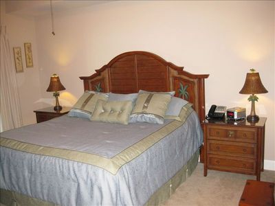 Master Suite includes a King Bed and 5 piece bath