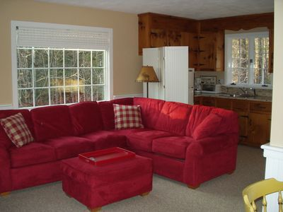 Family room with extra Kitchen and fridge
